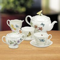 Deals on Lenox Butterfly Meadow 9-Piece Teapot Set