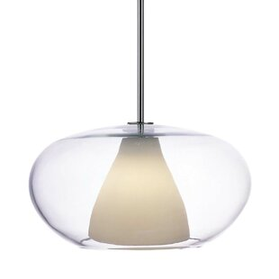 Brayden Studio Irene Pendant with Clear/W..
