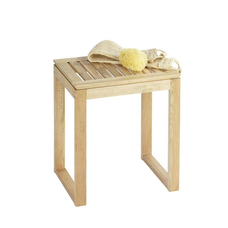 Wenko Norway Wood Free Standing Bathroom Stool & Reviews | Wayfair.co.uk