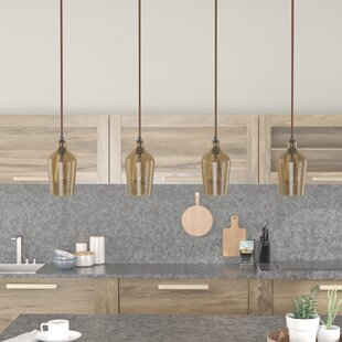 Williston Forge Esteban Linear Pan 4-Light Kitchen Island Pendant