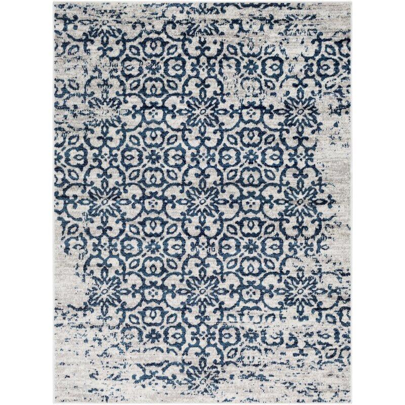 best navy white rugs