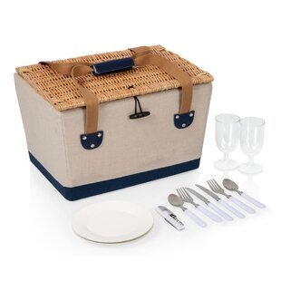 2 Person Nautical Fitted Picnic Basket By Union Rustic