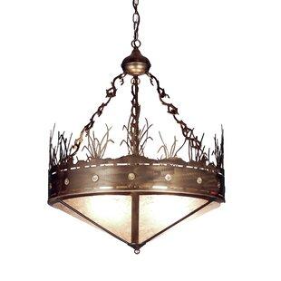 Meyda Tiffany Craftsman Target 4-Light Bowl Pendant