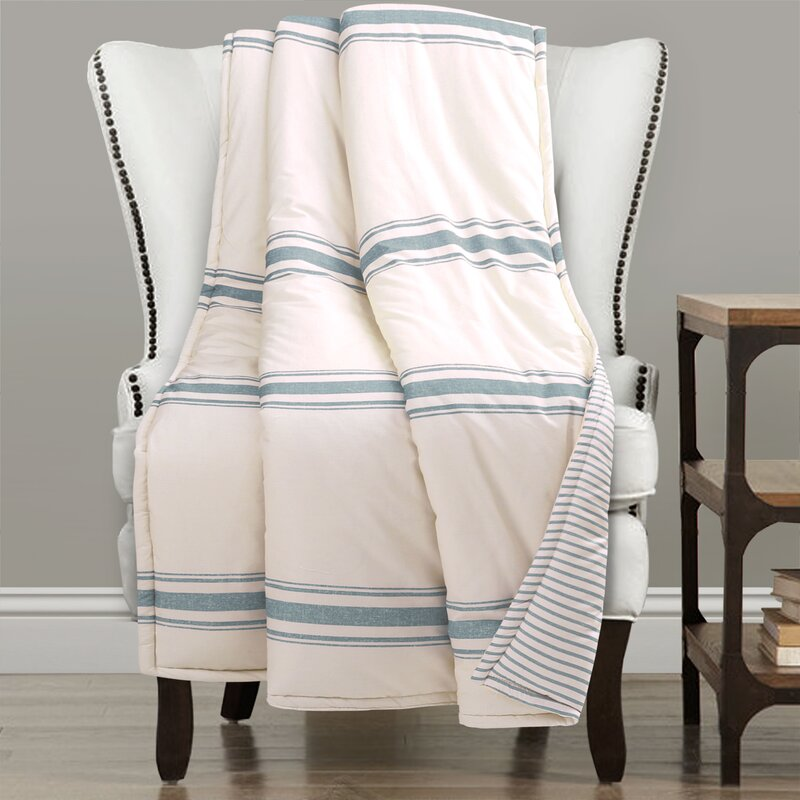 Matterson Stripe Single Cotton Throw