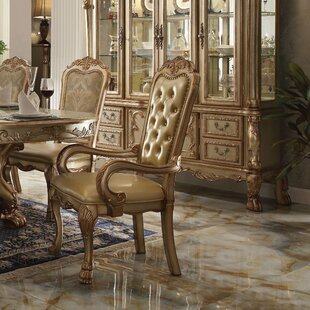 Welliver Upholstered Dining Arm Chair (Set of 2) Astoria Grand