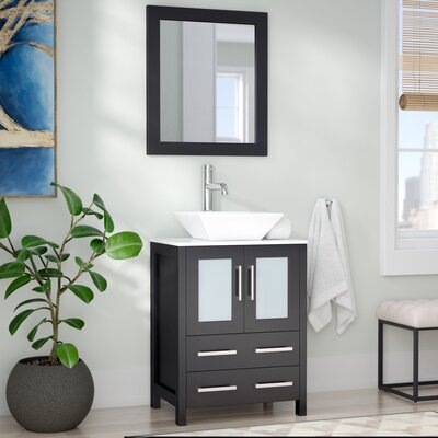 Leyla 24 Single Bathroom Vanity Set With Mirror
