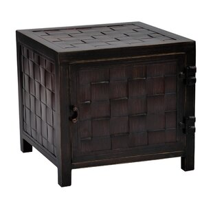 Tarrytown Classical Square Storage Chest Aluminum Side Table