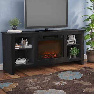 Brook Hollow TV Stand with Electric Fireplace Alcott Hill