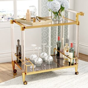 Brosius Bar Cart by Mercury Row