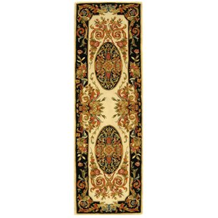 Priscila Hand-Tufted Wool Ivory/Gold/Blue/Black/Orange/Maroon Area Rug by Astoria Grand