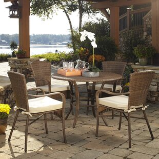 Panama Jack Outdoor Key Biscayne 5 Piece Dining Set with Cushions