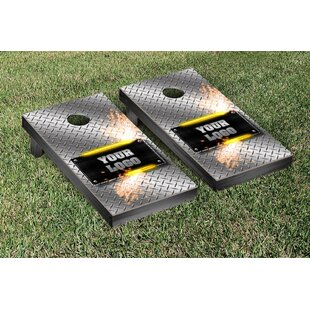 Victory Tailgate Metalworks Diamond Plate Cornhole Game Set