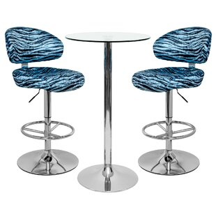 Ruhlman Dining Set With 2 Chairs By Wade Logan