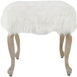 Affordable Price Birger Faux Fur Square Stool By Willa Arlo Interiors