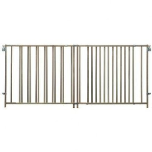 Savings Extra Wide Stairway Swing Gate By North States