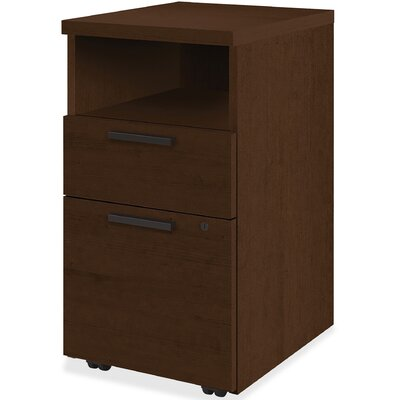 10500 Series 2 Drawer Mobile Vertical File Cabinet HON Finish Mocha