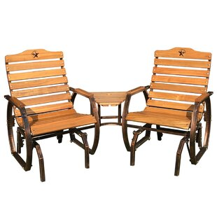 Iron Grove Slatted Wooden Tete A Bench