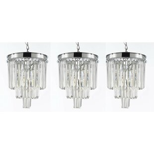 Keever Empress 3-Light Crystal Pendant (Set of 3) by House of Hampton