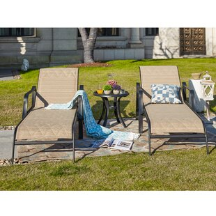 North Sun Lounger Set with Table