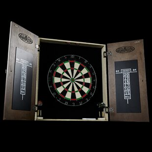 Bellevue Bristle Dartboard and Cabinet Set by Barrington Billiards Company