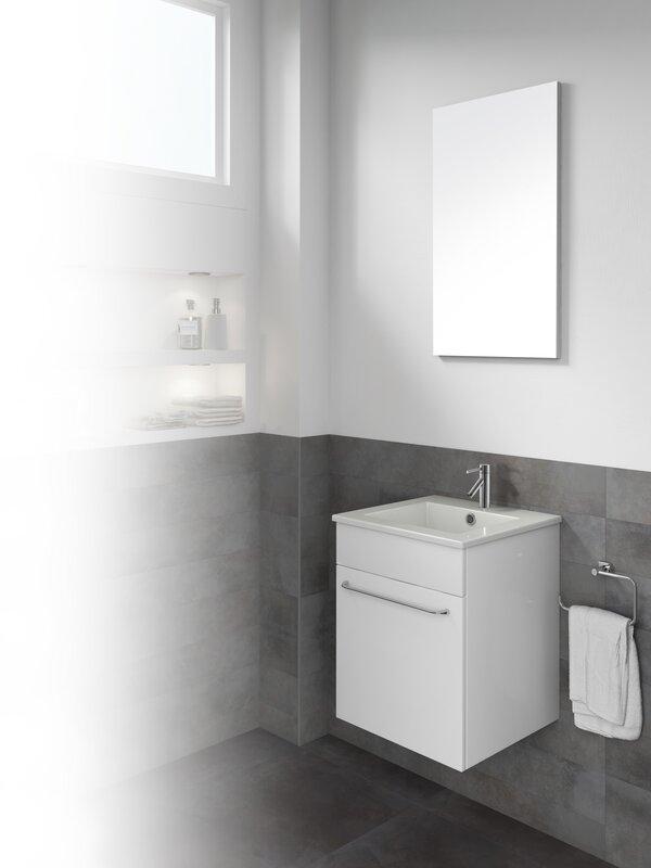 "16 Bathroom Vanity dawn usa qubo 16"" single bathroom vanity with mirror | wayfair"
