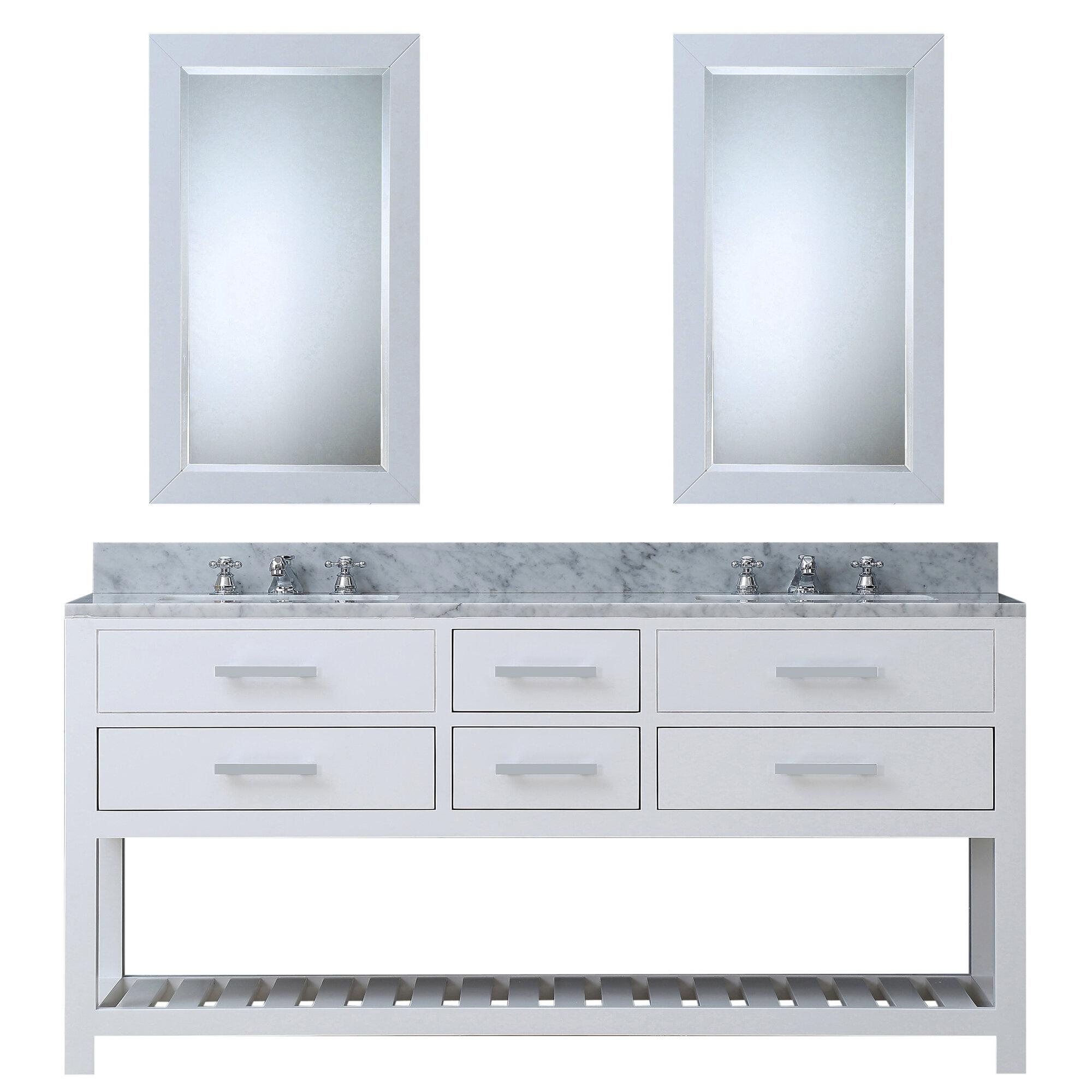 Contemporary Office Interior Design, Perego 72 Double Sink Bathroom Vanity Set With Mirror Reviews Allmodern