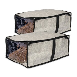 Rebrilliant 2 Piece Under-the-Bed Soft Shoe Storage Box Set (Set of 2)