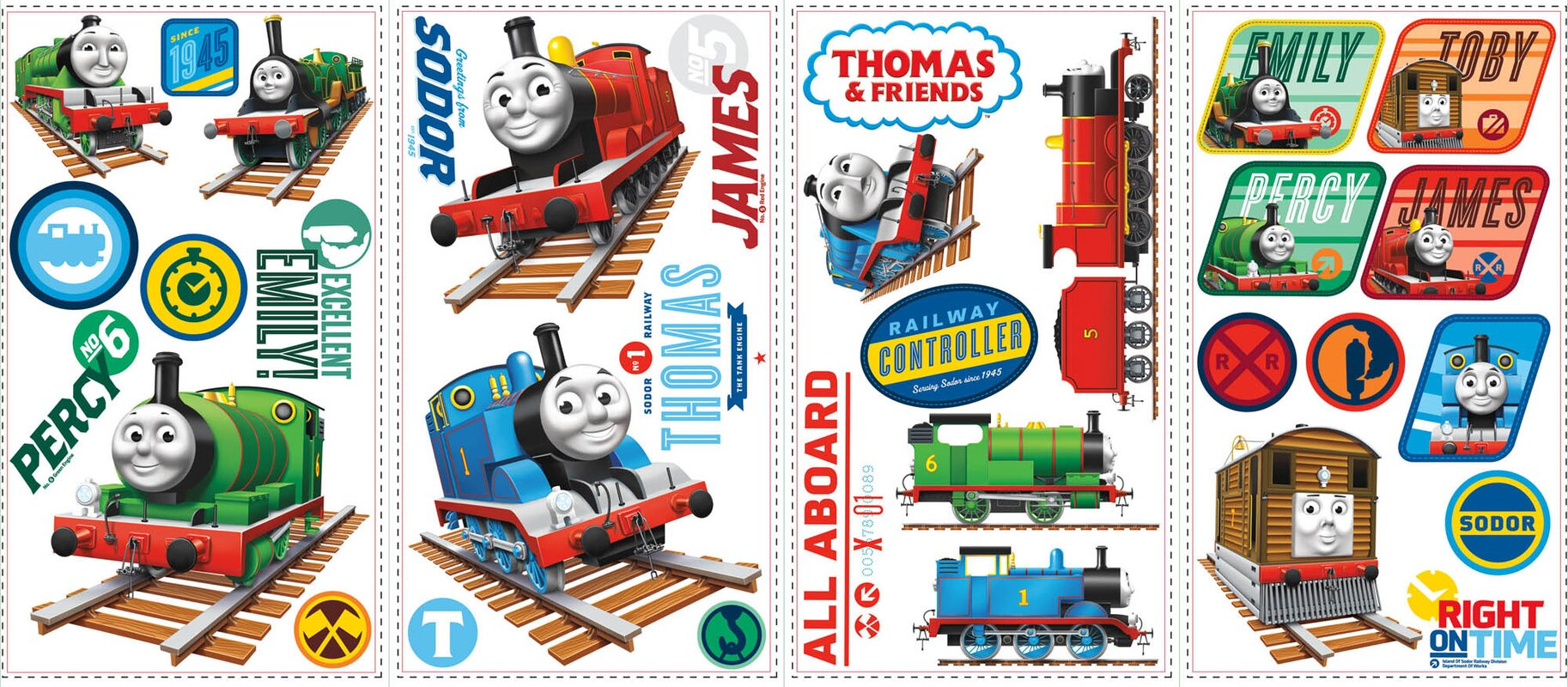 Popular Characters Thomas The Tank Engine Wall Decal Part 22