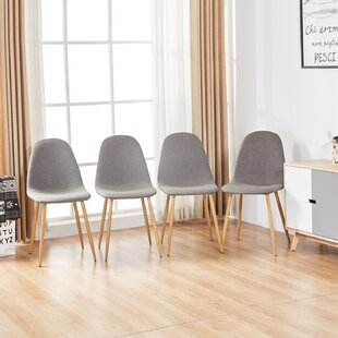 Jasper Strong Metal Legs Upholstered Dining Chair (Set of 4)