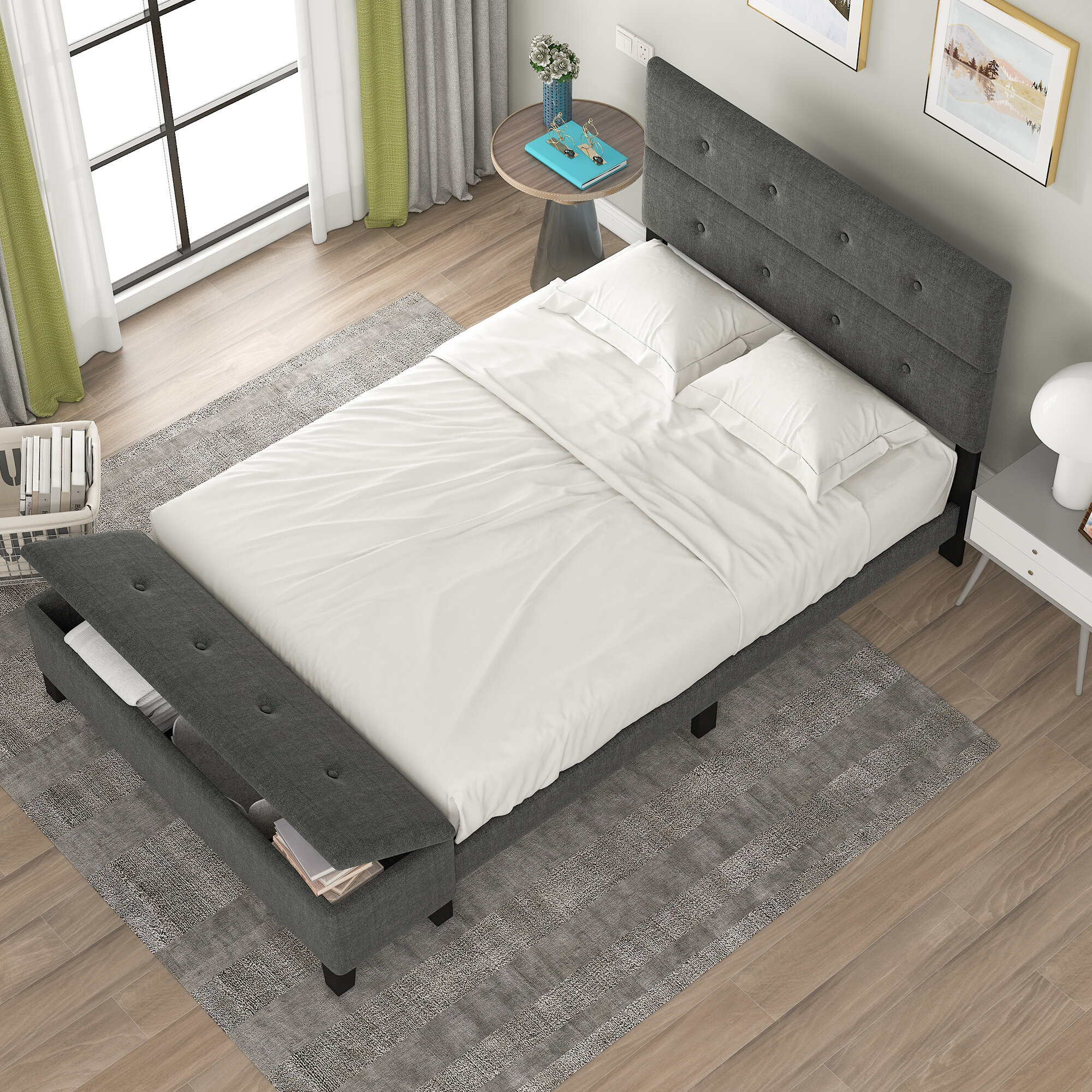 Latitude Run Katsuaki Tufted Low Profile Storage Platform Bed Wayfair