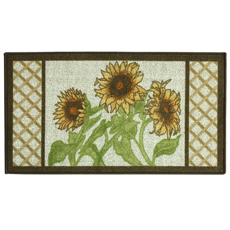 Bacova Guild Classic Berber Sunflower Frame Mat & Reviews | Wayfair