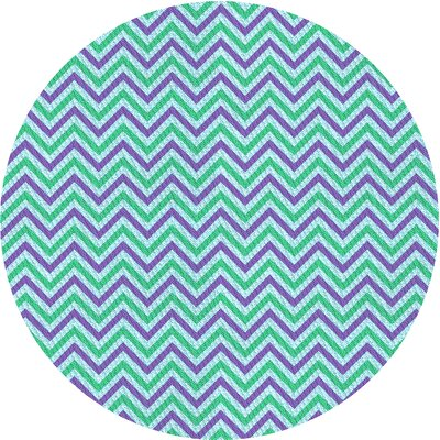 East Urban Home Chevron Wool Blue Green Purple Area Rug East Urban Home Rug Size Round 3 From Wayfair North America Daily Mail