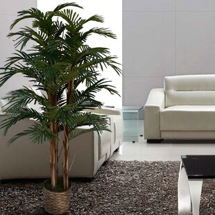 Exceptionnel Tall High End Realistic Silk Floor Palm Tree In Planter