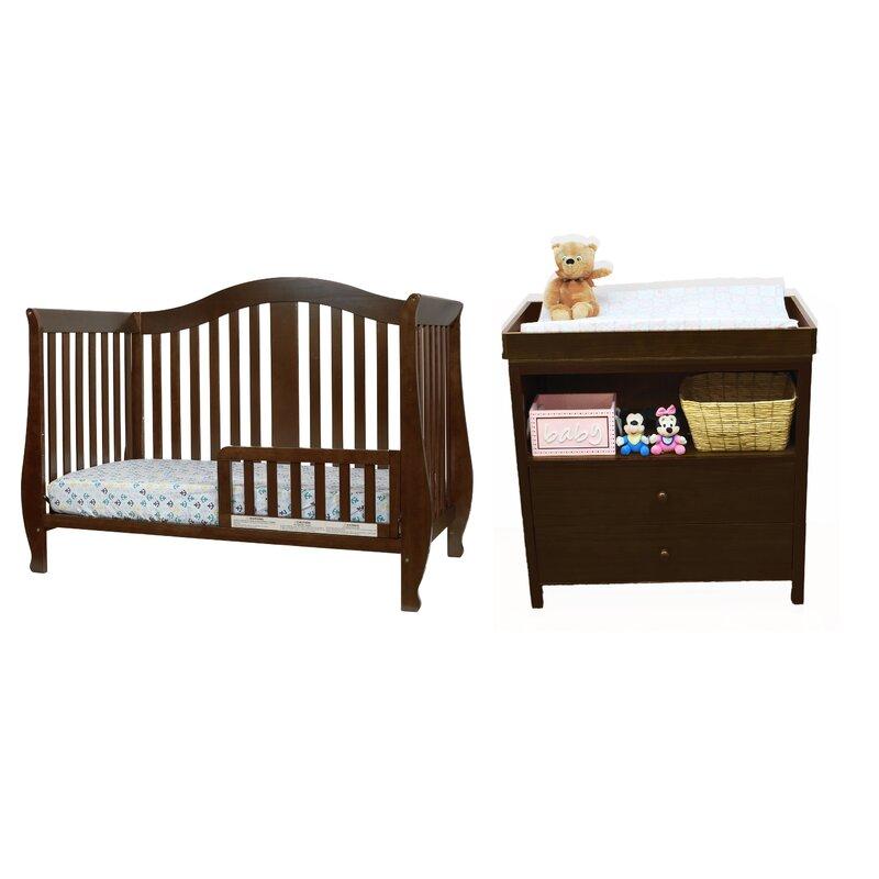 Viv + Rae Dejah Convertible Standard 2 Piece Nursery Furniture Set