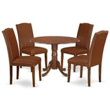 Schreiner 5 Piece Drop Leaf Solid Wood Dining Set by Charlton Home®