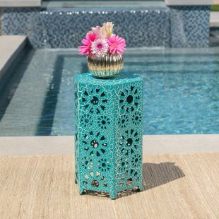 Ebern Designs Balentine Outdoor Iron End Table
