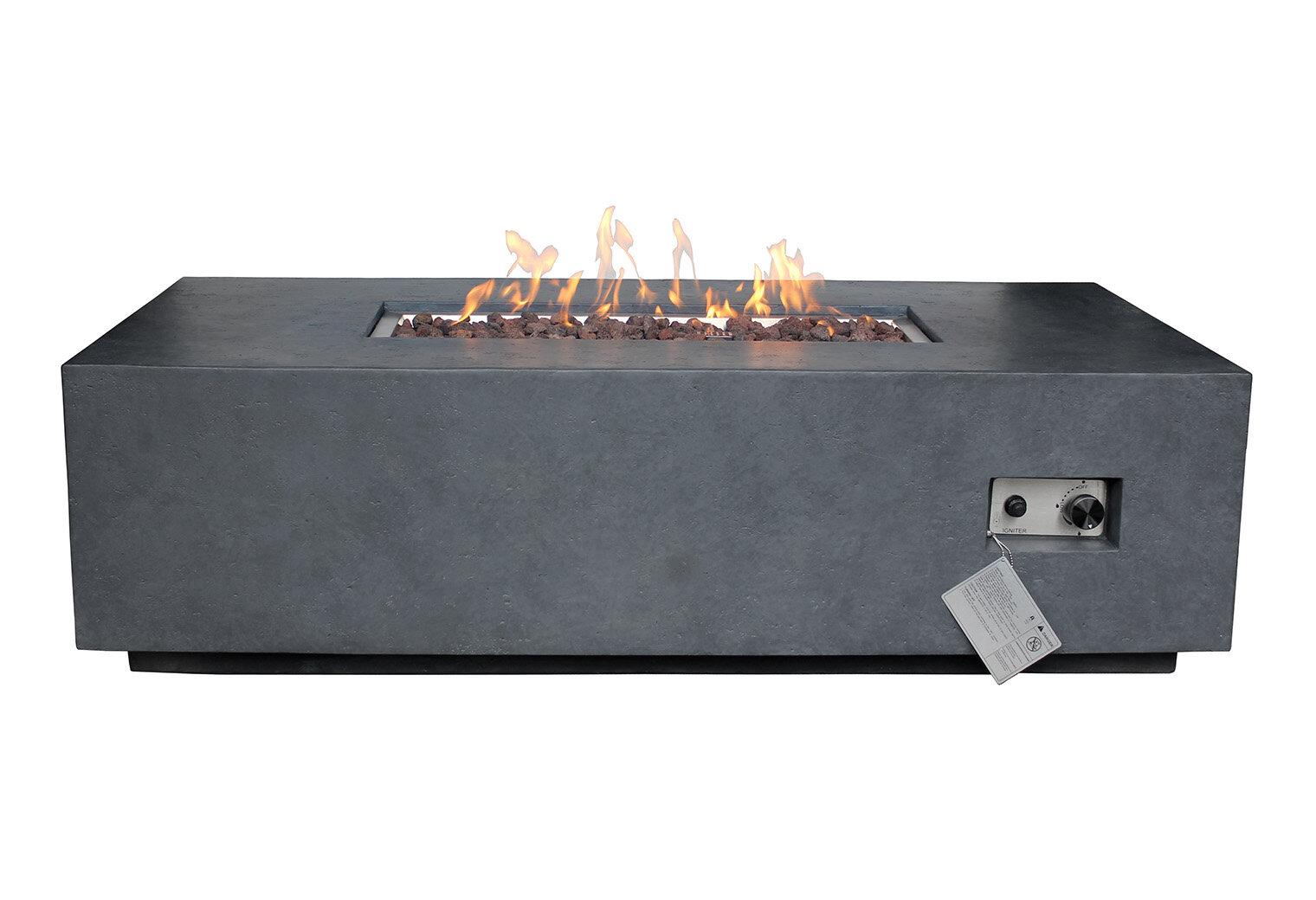 Ozias Concrete Propane Fire Pit Joss Main