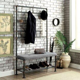 Bonita Industrial Metal/Metal Bench by Williston Forge