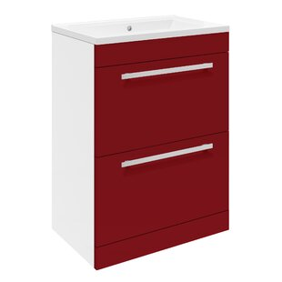 39.9cm Wall Mounted Vanity Unit With Storage Cabinet By Premier