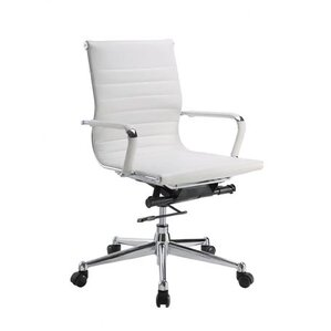 Genuine Leather Office Chairs Youll Love Wayfair - White leather office chairs
