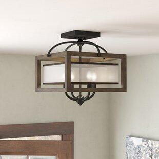 Rustic chandeliers youll love wayfair bundoran 4 light squarerectangle chandelier aloadofball Image collections