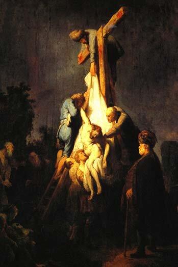 Buyenlarge 'Crucifixion' By Rembrandt Van Rijn Painting Print