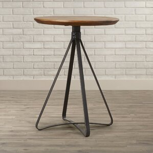 Kori End Table With Metal Base by 17 Stories