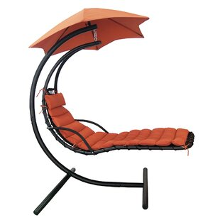 Cano Polyester Hanging Chaise Lounger with Stand