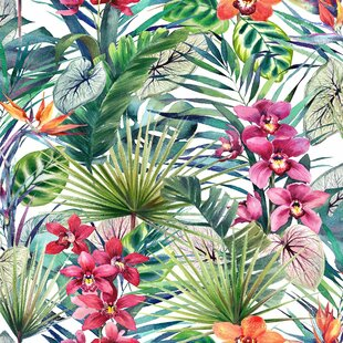 Tropical Wallpaper Wayfair Co Uk