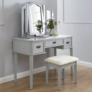 Burton Dressing Table Set With Mirror By Canora Grey
