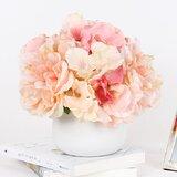 Light Hydrangea Peonies Floral Arrangement in Vase