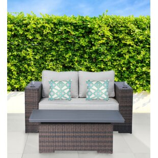 Drasner 2 Piece Sunbrella Sofa Set with Cushions