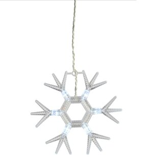 Acrylic Snowflakes LED 60 Light String Lights By The Seasonal Aisle