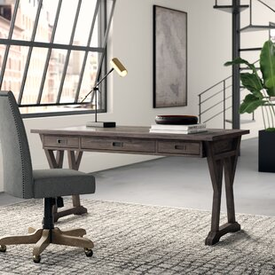 Hutto Solid Wood Writing Desk by Greyleigh